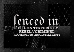 Fenced In Textures by Rebel by faeground