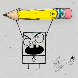 The Pencil is Truly Mightier by theflamingalberto