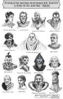 15 Characters from A Song of Ice and Fire Series by PaulPhillips