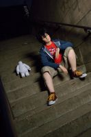 Hiro Baymax stairs by ShiroJojo