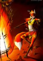 Foxy Fire Dancer by angrycontra