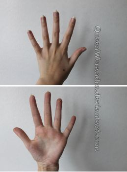 Hand spread reference stock by QueenWerandra