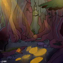 Gravity Falls Inspired Background by narkissa03