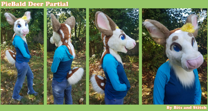 Piebald Deer partial by BitsAndStitch