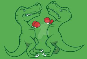 T-Rex Boxing by JellySoupStudios