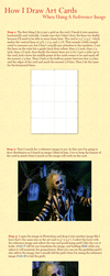 How I Draw Art Cards When Using a Reference Image by febbik