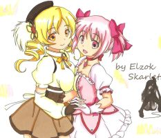 Mami and Madoka by ClaireRoses