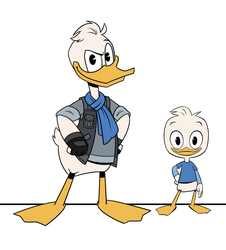 DuckTales: Young Adult Dewey by MexCraziness