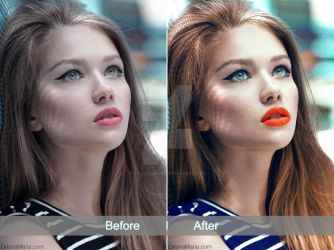 Summer colourful beauty retouch by Orlovamaria