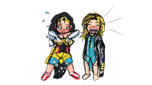 Wonder Tot and Crybaby (Sketch) by Ar-Kayn