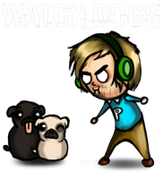 Pewds _ Watch_Dogs by HaluzCZ