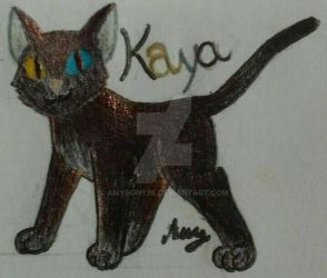 Kaya the black cat by Amypony36