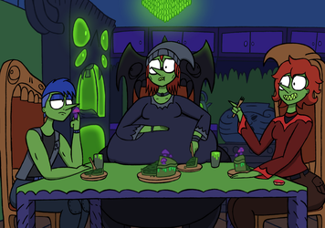 Dinner With Witches by NyxenAvenger