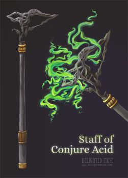 Staff of Conjure Acid Item Details by delightedmuse
