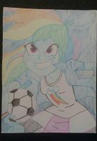 RainbowDash - Drawned and colored by IronBeastz