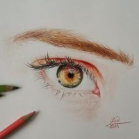 Simple eye sketch in color by annnelies