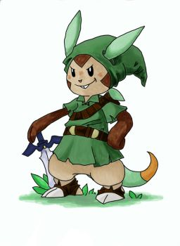 Chespin as Link by Prism-Pink