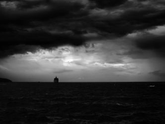 The Ship Amidst the Storm by adityagautam