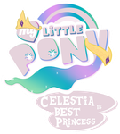 Fanart - MLP. My Little Pony Logo - Celestia by jamescorck