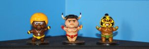 Master of Sumo figures by BrainBlueArts
