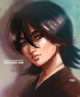 Rukia painting by Mark-Clark-II