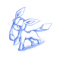 Glaceon SketchArt by BluuKiss