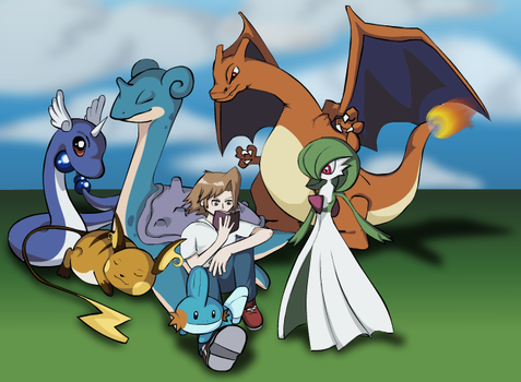 Me and my Pokemon by hoeloe