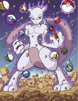 Mewtwo got to catch them all by culdesackidz