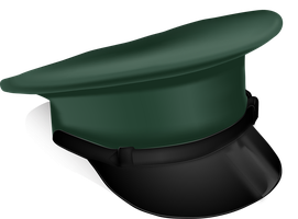 Military Cap - Gradient Mesh Practice by KarynRH