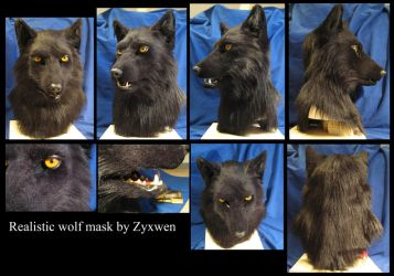 Black wolf mask by zyxwen