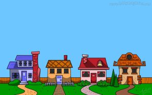 Row of Houses by Art-by-Andy