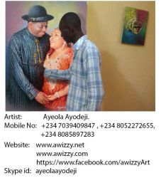 portrait painting of nigerian president:  Ayodeji by awizzy