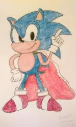 Sonic and the Birthday Cape Sketch by Nikkigamer