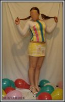 Mannequin with balloons by misterdoe