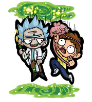 Rick and Morty by GhosTyce
