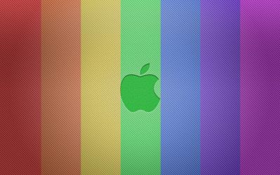 Apple Bold in ROYGBIV by Tibneo