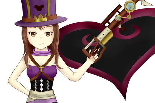 Kingdom Heart Caitlyn by AlanxKitsune