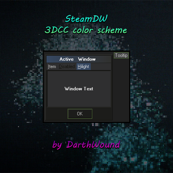 3DCC SteamDW color scheme by DarthWound