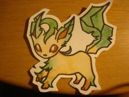 Leafeon by agalmatophiliac