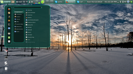 Linux Mint 16 on 42 Inch TV by paradigm-shifting