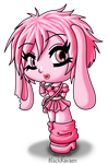 Pink Bunny by louisalulu
