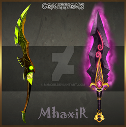 Weapon Comission by MhaxiR