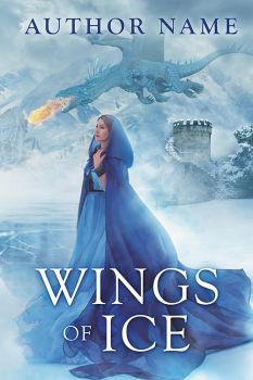 Wings of Ice - premade book cover by LHarper
