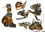 Some dwarf and goblin heads by Orestix