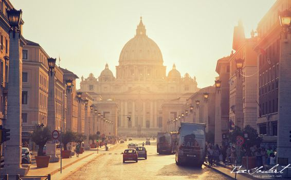 Sunset Road to the Vatican by IsacGoulart
