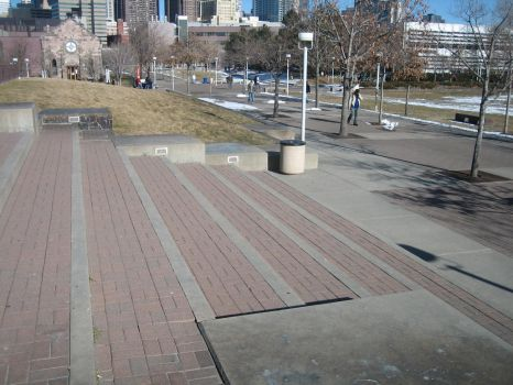 Auraria Campus - Plaza Stairs by photomars-stock