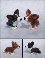 Traum and Maegan-Mini Pet Sculptures by LeiliaClay