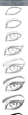 Female Comic Eye Tutorial - Step by Step by robertmarzullo