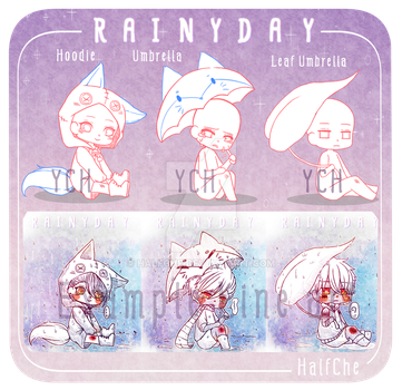 [YCH] Rainy Day Set (OPEN) by HalfChe