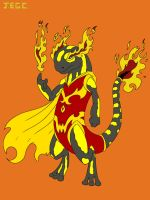 Fire slamander superhero  by jjjjoooo1234
